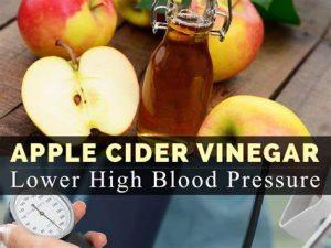 can apple cider vinegar lower blood pressure immediately